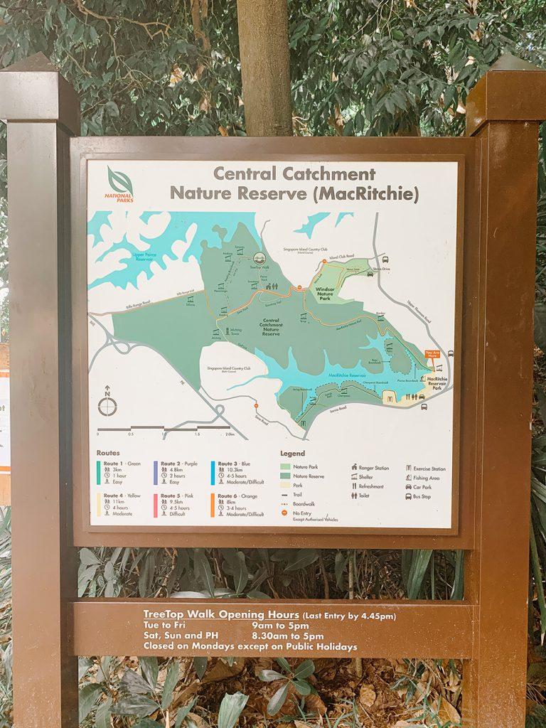 MacRitchie Reservoir Park Map